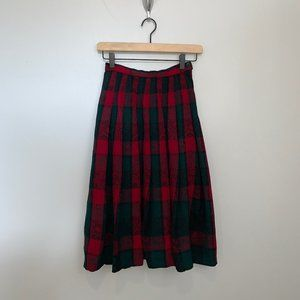 Pendleton Wool Red Tartan Plaid Skirt